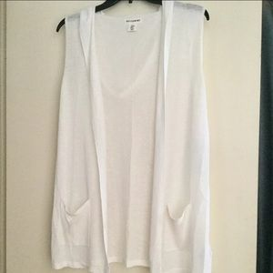 Artisan NY open hooded duster/cover-up
